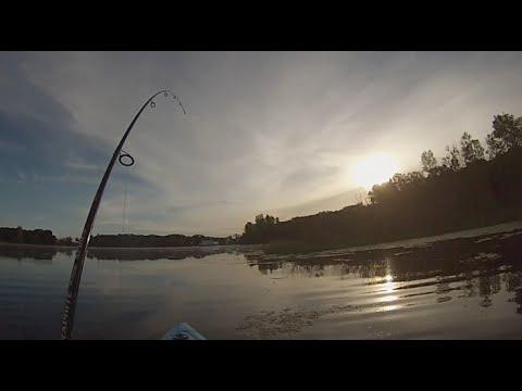 Kayak Fishing - Early Morning Minnesota Bass Fishing
