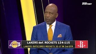 Worthy PRAISES LeBron leads Lakers Beat Rockets 124-115; LeBron: 31 Pts; AD Sits with Injury