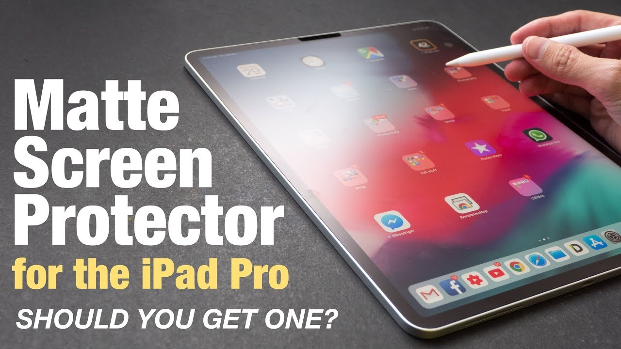 first rate 5c9c1 4911f iPad Pro Matte Screen Protector (Should You Get One?)