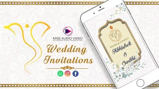 ✅ MV007 Best e Wedding Invitations || Wedding Invitation e Invite || Modern Save The Date
