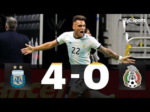 ARGENTINA 4-0 MÉXICO (Lautaro Martínez x3 y Paredes -Penal-)