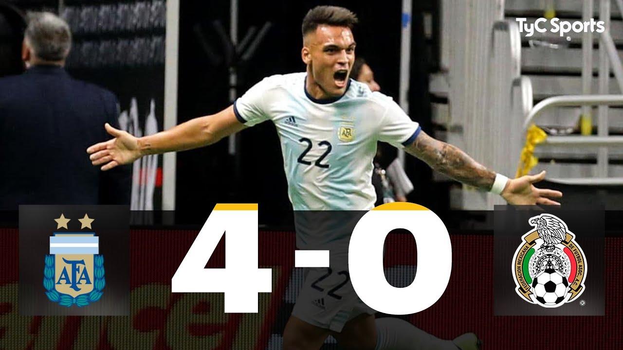Download ARGENTINA 4-0 MÉXICO (Lautaro Martínez x3 y Paredes -Penal-)