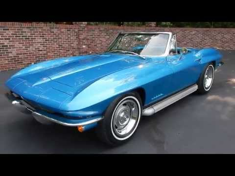 1967 Corvette Roadster, blue, for sale Old Town Automobile in Maryland