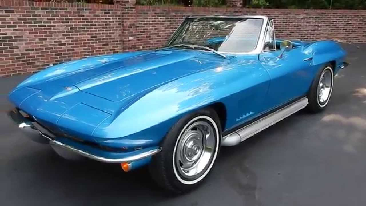 1967 corvette roadster blue for sale old town automobile. Black Bedroom Furniture Sets. Home Design Ideas