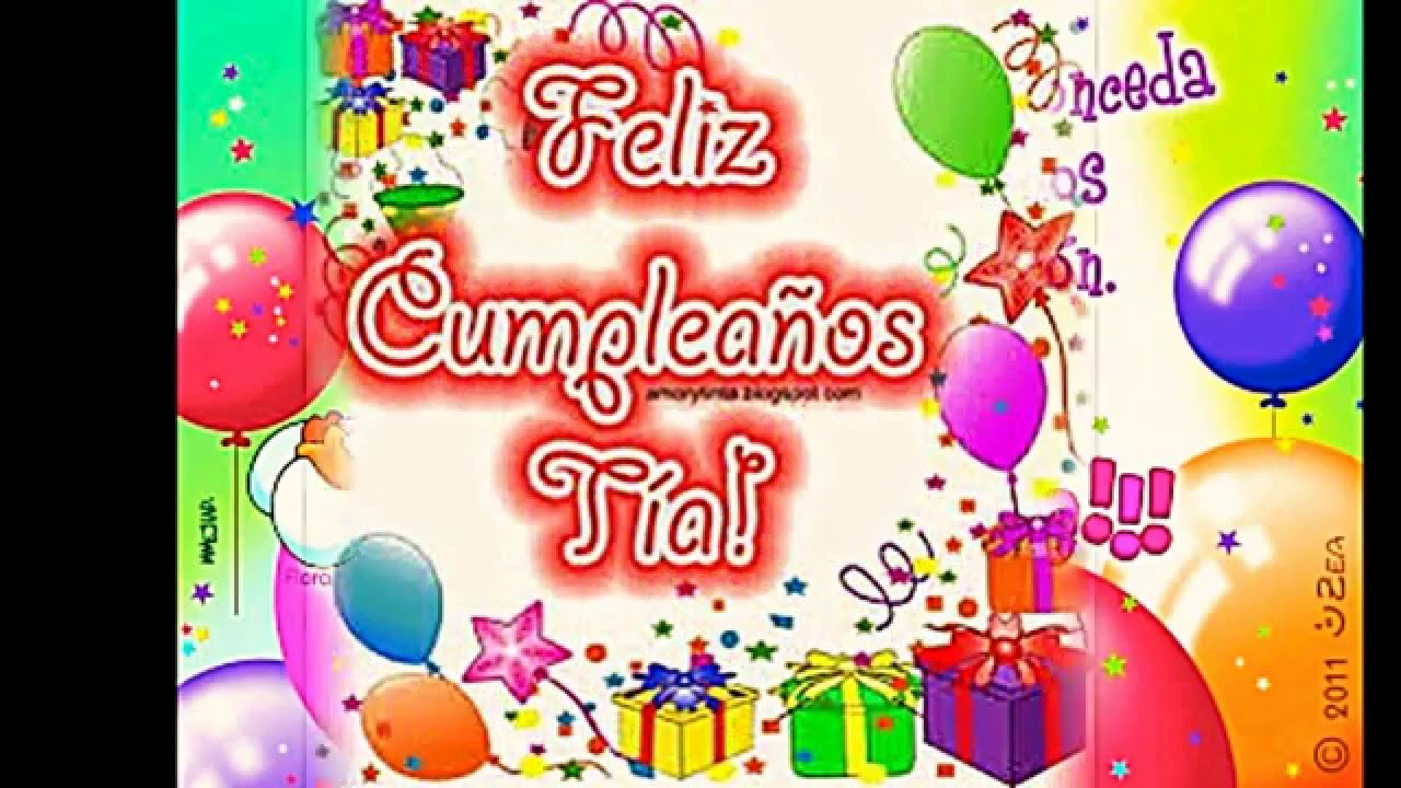 Feliz Aniversário Para Tia: Feliz Cumpleaños Tia Sara