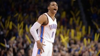 Russell westbrook 7 3s! 17th triple double of season 32 pts 17 rebs 11 asts nuggets vs thunder