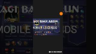 Bagi bagi akun MOBILE LEGENDS gratis