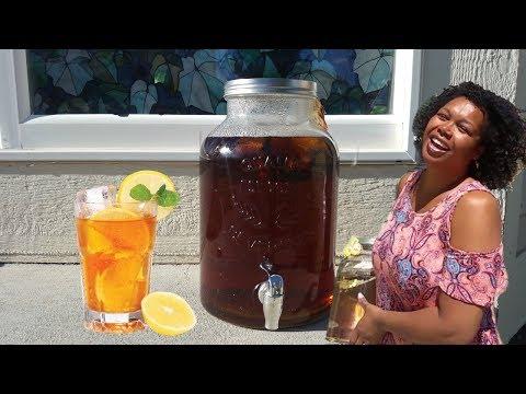 How to make homemade sun sweet tea
