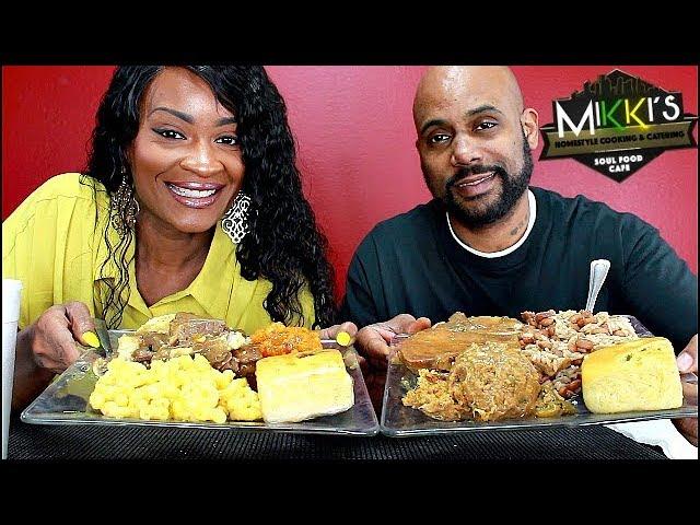 Mikkis Soul Food Cafe Mukbang 1 Soul Food In Houston
