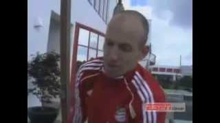 Arjen Robben fala de Romário