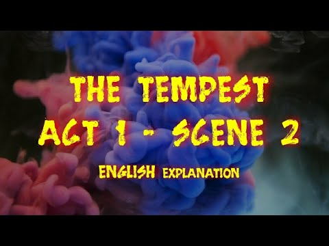 The Tempest Act 1 Scene 2 English Explanation William Shakespeare Isc Drama Summary Youtube 4 Paraphrase
