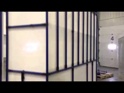 Closed room made of Flexpipe's modular material handling system