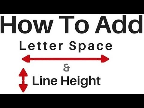 Letter Space And Line Height In HTML Element Using Css