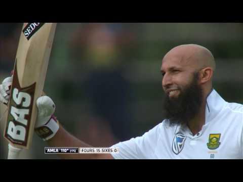South Africa vs Sri Lanka - 3rd Test - Day 1 - Hashim Amla 100