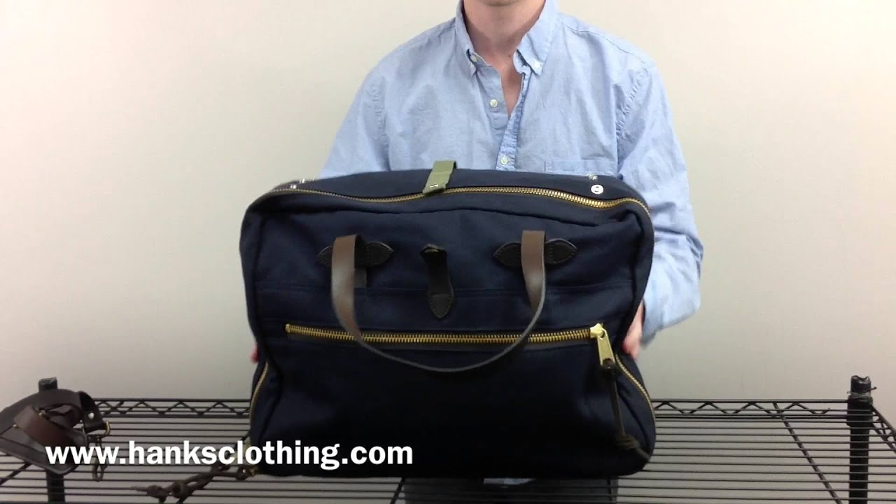 Filson Large Twill Carry On Style 70081 - YouTube