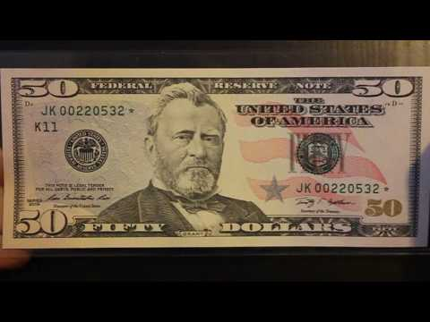 $50 Fifty Dollar Star Note Low Print Run.  Very Rare.