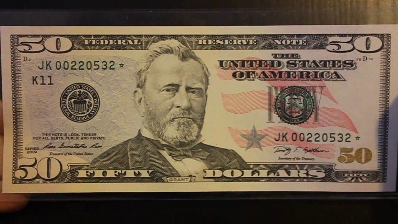 50 Fifty Dollar Star Note Low Print Run Very Rare