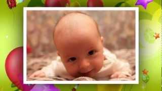 Слайд-шоу первый год малыша