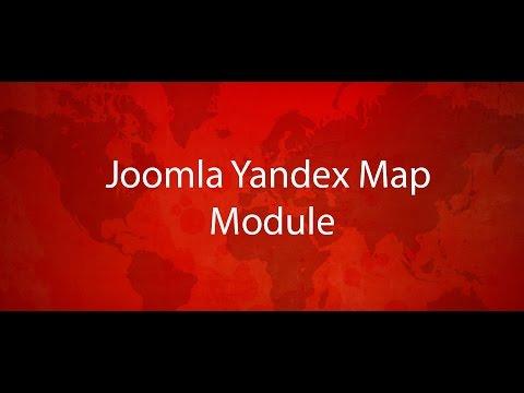 Модуль Конструктор Yandex Карт для Joomla CMS