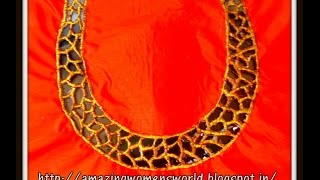 HOW TO MAKE ROCK STONE CUT WORK MODEL DESIGNER BLOUSE - SEWING TIPS