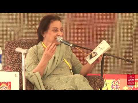 KLF-2017: Book Launch: Tum Kabeer and Qila e Faramoshi by Fahmida Riaz (11.2.2017)