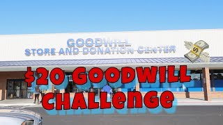 $20 GOODWILL CHALLENGE ! - LEGIT HARD