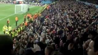 Aston Villa V Birmingham City - Final Whistle & Keep Right On