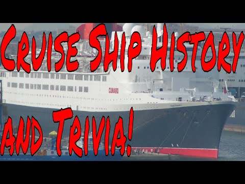Cruise Ship History and Trivia Is On the Table Today! Plus Q+A for New Cruisers