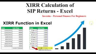 How To Calculate Mutual Funds SIP Returns on Excel Spreadsheet? | XIRR Calculation!