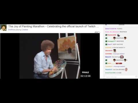 Bob Ross The Joy of Painting S31 E07 Twitch chat