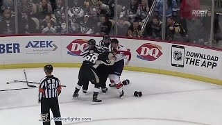 Willie Mitchell vs Kris Letang Dec 20, 2014