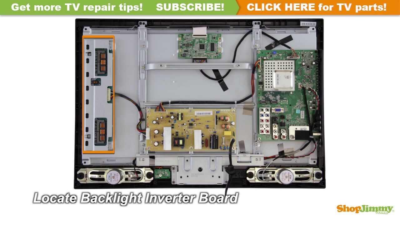 Toshiba TV Repair  Replacing 26AV5 Backlight Inverter Board  How to Fix LCD TVs  YouTube