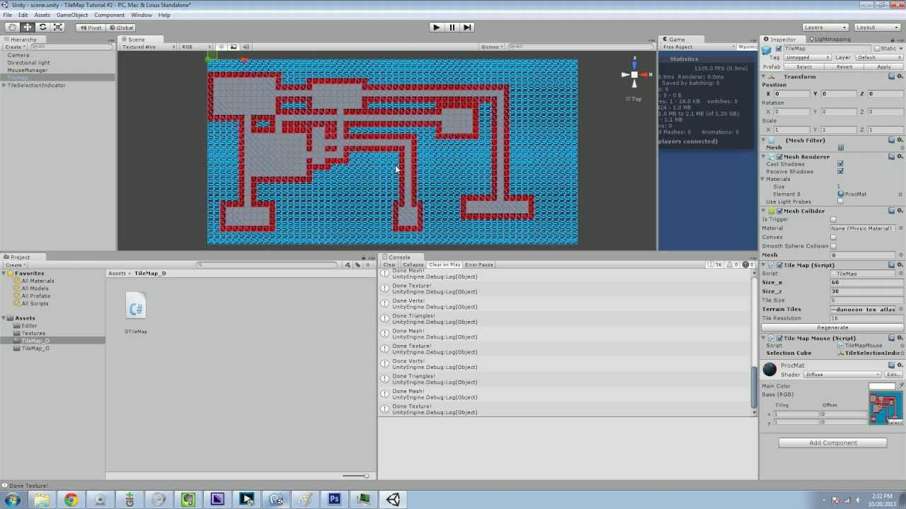 Unity 3d: TileMaps - Part 11 - Procedural Dungeon Maps (Roguelike)