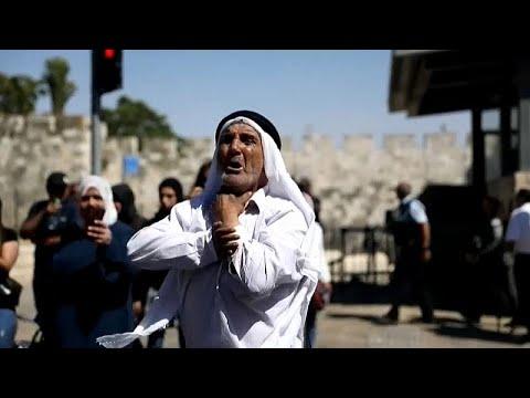 شاهد هبّة أهل القدس في مواجهة المستوطنين أثناء مسيرة الأعلام قرب باب العامود …  - نشر قبل 2 ساعة