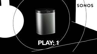 SONOS Play 1 WHITE - The Mini Home Speaker With Mighty Sound
