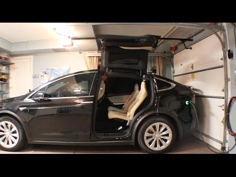 Tesla Model X Falcon Wing Doors Garage Youtube