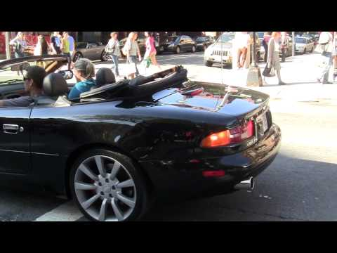 [FHD] Aston Martin DB7 Vantage w/ custom exhaust short acceleration sound!