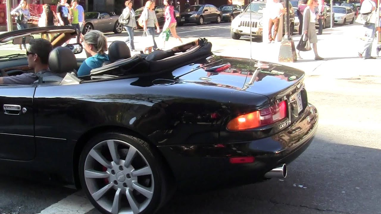 fhd] aston martin db7 vantage w/ custom exhaust short acceleration