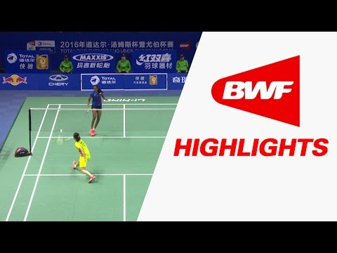 TOTAL BWF Thomas & Uber Cup Finals 2016 | Badminton SF-Uber Cup-CHN vs IND-Highlights