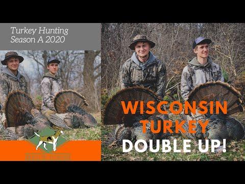 Turkey Hunting Season A 2020 | Wisconsin Turkey Double Up! |