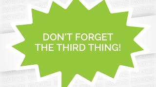 Favorites #4 - Don't Forget the Third Thing! Video