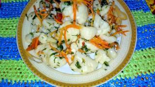 Салат из цветной капусты.Рецепт под видео.