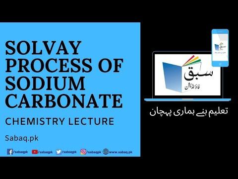Solvay Process of sodium carbonate