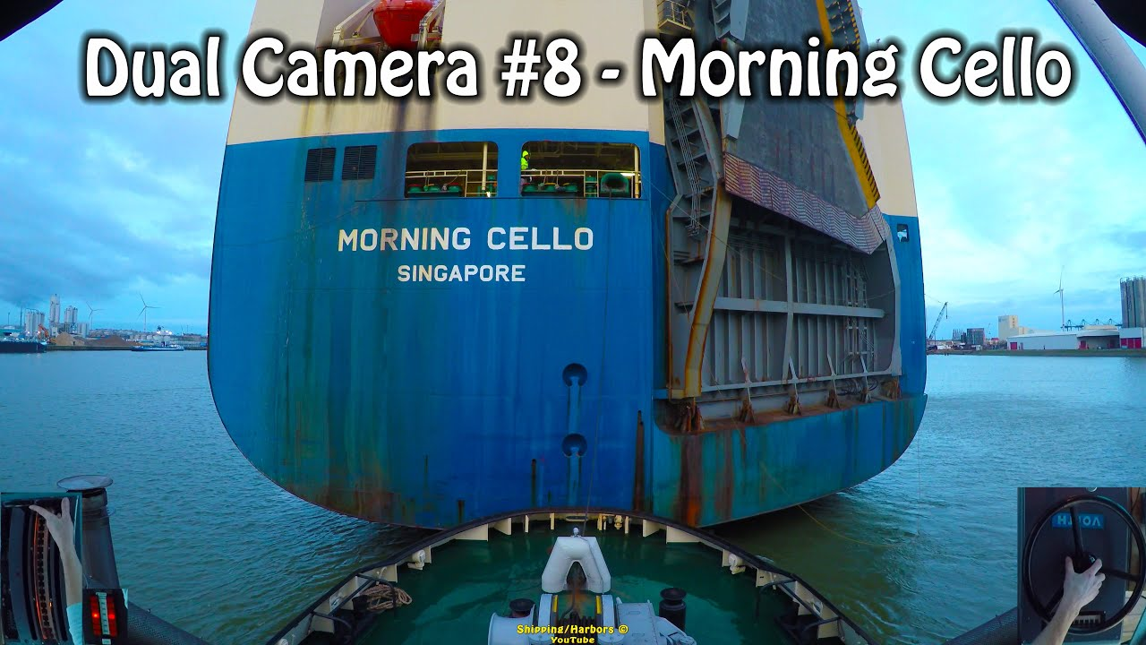 Tugboat Dual Camera #8 - Voith Schneider Controls - Morning Cello
