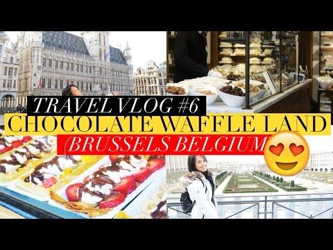 Travel Vlog #6 Chocolate Waffle Land AKA Brussels !