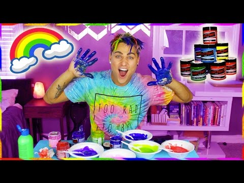DYING MY HAIR RAINBOW w/ 10 COLORS OF MANIC PANIC!!