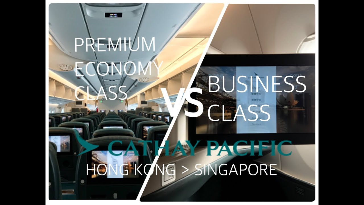 cathay pacific  business vs premium economy on a350