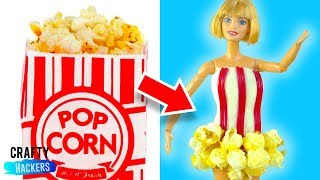 20 DIY Edible Barbie Outfits | Barbie Hacks and Crafts