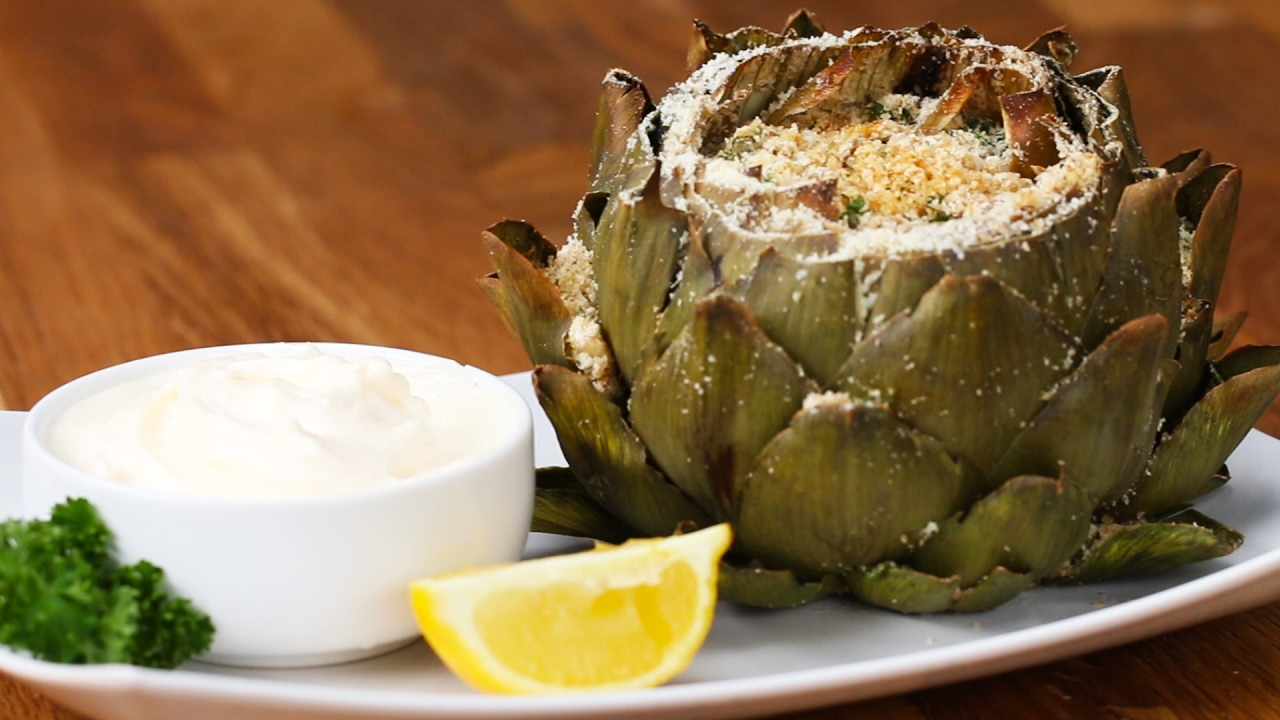 Garlic Parmesan-Stuffed Artichokes