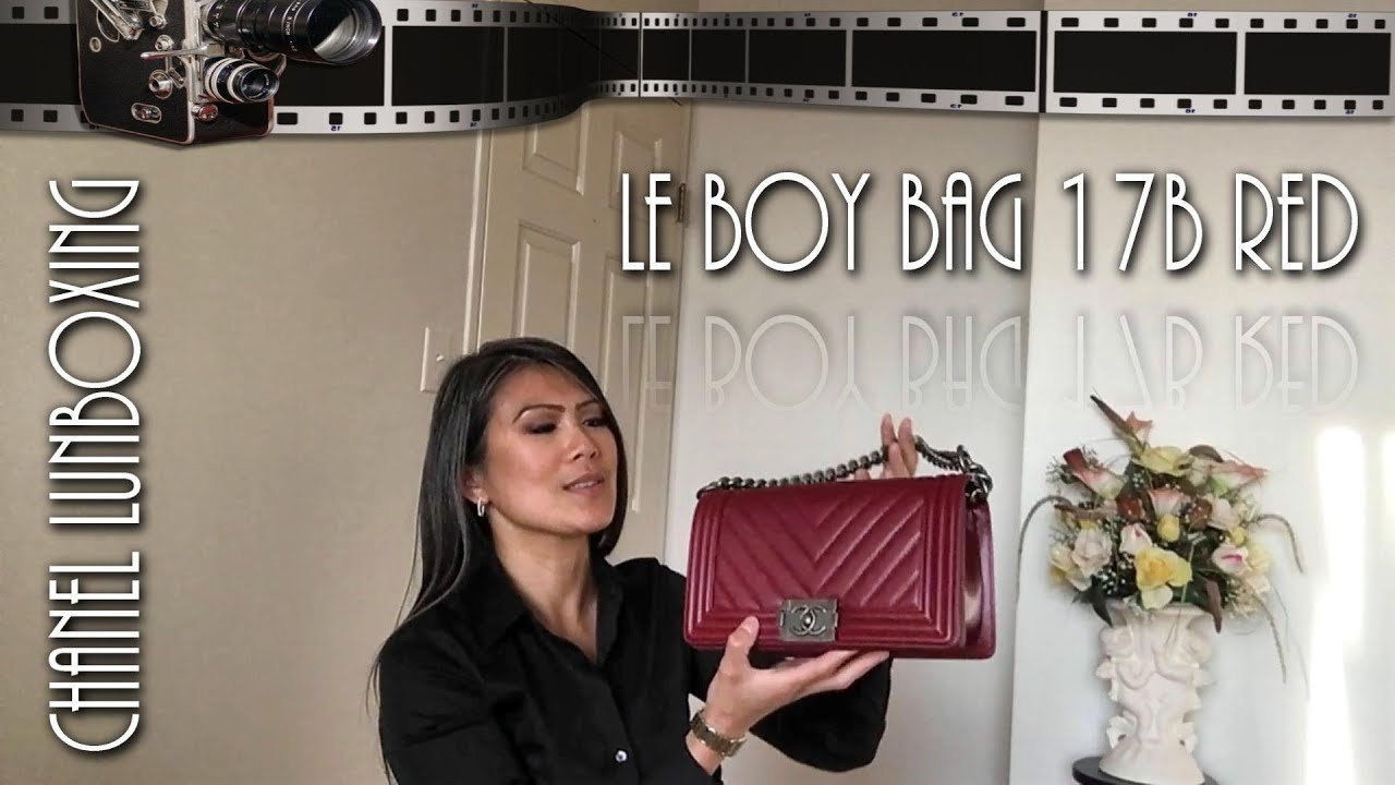 1048b2203741 Chanel Unboxing - 17B Red Le Boy Bag (Fall 2017) | Mod Shots - YouTube